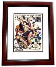 Cory Monteith and Lea Michele Signed - Autographed GLEE 11x14 inch Photo MAHOGANY CUSTOM FRAME - Finn Hudson and Rachel Berry - Guaranteed to pass PSA or JSA
