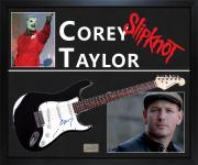 Corey Taylor Signed Guitar With Custom Display Case Exact Video Proof AFTAL