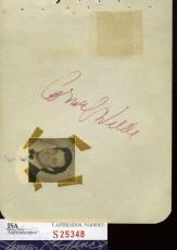 Cornel Wilde Hand Signed Jsa Album Page Authentic Autograph