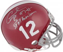 Cornelius Bennett Alabama Crimson Tide Autographed Riddell Mini Helmet with 3x All American Inscription