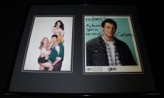 Cory Monteith Signed Framed 16x20 Photo Display Glee Finn Hudson