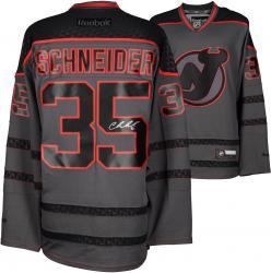 Cory Schneider New Jersey Devils Autographed Charcoal Reebok Cross Check Premier Jersey