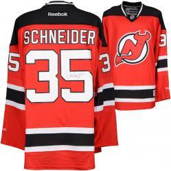 Cory Schneider New Jersey Devils Autographed Red Reebok Premier Jersey