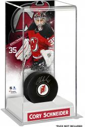 Cory Schneider New Jersey Devils Deluxe Tall Hockey Puck Case