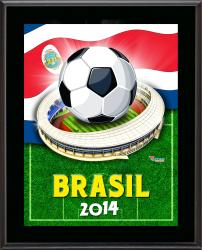 "Costa Rica 2014 Brazil Sublimated 10.5"" x 13"" Plaque"