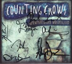 Counting Crows Hand Signed Somewhere Under Wonderland Cd+coa       Adam Duritz