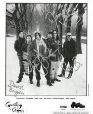 Counting Crows Signed Autographed 8x10 B/W Photo (5 Sigs) PSA/DNA #AC06340