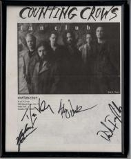 Counting Crows X4 Autographed Signed Framed 8x10 Fan Club Photo AFTAL UACC RD CO
