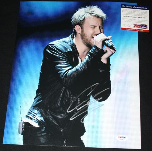 COUNTRY Charles Kelley signed 11 x 14, Lady Antebellum, Bartender, PSA/DNA