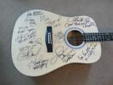 Country Music HOF Signed Guitar W Lyrics X 11 Haggard Jones Nelson PSA Certified