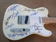 Country Music HOF Signed Guitar W Lyrics X 9 Haggard Jones Nelson PSA Certified