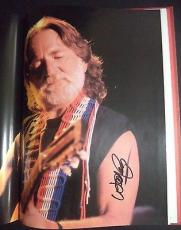 Country Music Superstars Book Signed By Willie Nelson Kathy Mattea Oakridge Boys