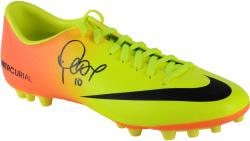 Philippe Coutinho Autographed Yellow & Orange Boot