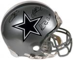 Dallas Cowboys Aikman, Irvin, Smith Autographed Pro Helmet