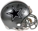 Dallas Cowboys Aikman, Irvin, Smith Autographed Pro Helmet