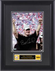 "Bill Cowher Pittsburgh Steelers Framed Autographed 8"" x 10"" Photograph - Mounted Memories"