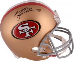 Michael Crabtree San Francisco 49ers Autographed Riddell Replica Helmet