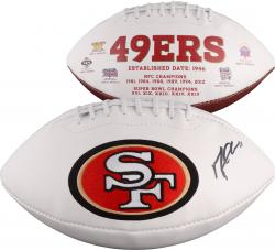 Michael Crabtree San Francisco 49ers Autographed White Panel Football