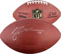 Michael Crabtree San Francisco 49ers Autographed Wilson Pro Football