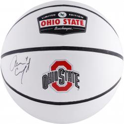 Aaron Craft Ohio State Buckeyes Autographed White Panel Basketball - Mounted Memories  - Mounted Memories