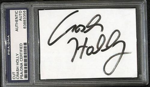 Crash Holly Signed Cut Index Card PSA/DNA COA WWE Hardcore Champion Autograph