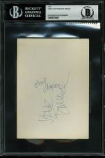 Cream Eric Clapton & Jack Bruce Signed 4x6 Cut Signature BAS Slabbed