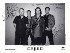 Creed Autographed Signed When Dreaming Photo & Proof   AFTAL