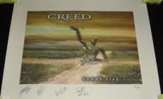 Creed Group Signed Human Clay 19x25 Lithograph Poster Ltd Edition /1000