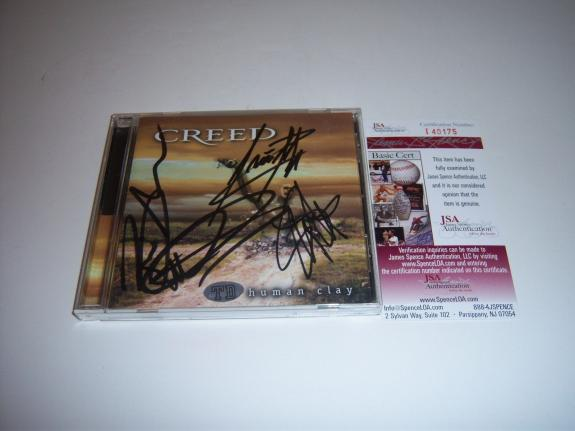 Creed Scott Stapp,brian Marshall,scott Phillips,mark Tremonti Jsa/coa Signed Cd