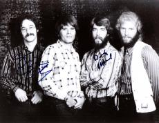 "CREEDENCE CLEARWATER REVIVAL"" Signed by BASSIST-STU COOK and DRUMMER-DOUG CLIFFORD - 10x8 B/W Photo"