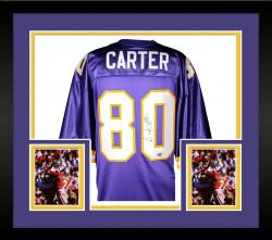 Cris Carter Minnesota Vikings Autographed Custom Throwback Jersey - Mounted Memories