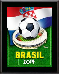 "Croatia 2014 Brazil Sublimated 10.5"" x 13"" Plaque"