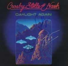 Crosby, Stills & Nash Autographed - Hand Signed DAYLIGHT AGAIN LP Record Album Cover - CSN David Crosby, Stephen Stills, and Graham Nash