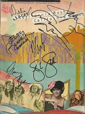 Crosby Stills Nash & Jackson Browne Multi Signed 9x11 Book Cover Psa/dna Loa