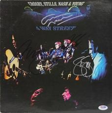 Crosby, Stills, Nash & Neil Young Signed Album Cover PSA/DNA #W04815
