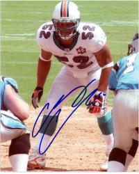 "Channing Crowder Miami Dolphins Autographed 8"" x 10"" Pose Photograph"