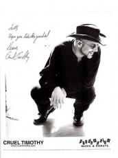 Cruel Timothy-signed photo