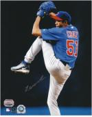 Juan Cruz Chicago Cubs Autographed 8'' x 10'' Pitching Photograph - Mounted Memories