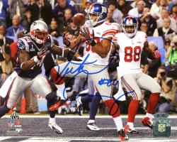"Victor Cruz New York Giants Super Bowl XLVI Champions Autographed 8"" x 10"" Horizontal Touchdown Photograph"