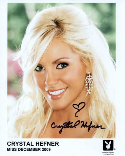 CRYSTAL HEFNER HAND SIGNED 8x10 COLOR PHOTO+COA       GORGEOUS+SEXY MODEL