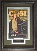 CSI: Crime Scene Investigation - Cast Signed 11x17 Framed Po