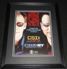CSI: Miami CSI:NY 2005 David Caruso Framed 11x14 ORIGINAL Advertisement