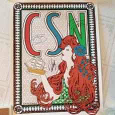 CSN DAVID CROSBY STEPHEN STILLS & GRAHAM NASH Signed CONCERT POSTER + PSA DNA