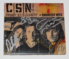 CSN David CROSBY STILLS & NASH Signed Greatest Hits CD Book JACKET w/ CD & LOA