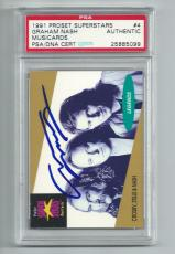 CSN GRAHAM NASH signed autographed 1991 PRO SET SUPERSTARS CARD PSA/DNA SLABBED