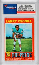 CSONKA, LARRY (1971 TOPPS # 45) CARD - Mounted Memories