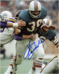 Miami Dolphins Larry Csonka Autographed 8'' x 10'' vs. Minnesota Vikings Photograph - Mounted Memories