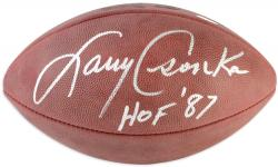 Larry Csonka Autographed Wilson Football with HOF '87 Inscription - Mounted Memories
