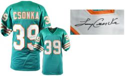 Larry Csonka Miami Dolphins Autographed Teal Custom Jersey