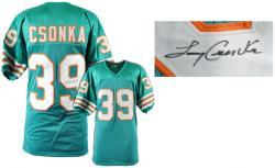 Larry Csonka Miami Dolphins Autographed Teal Custom Jersey